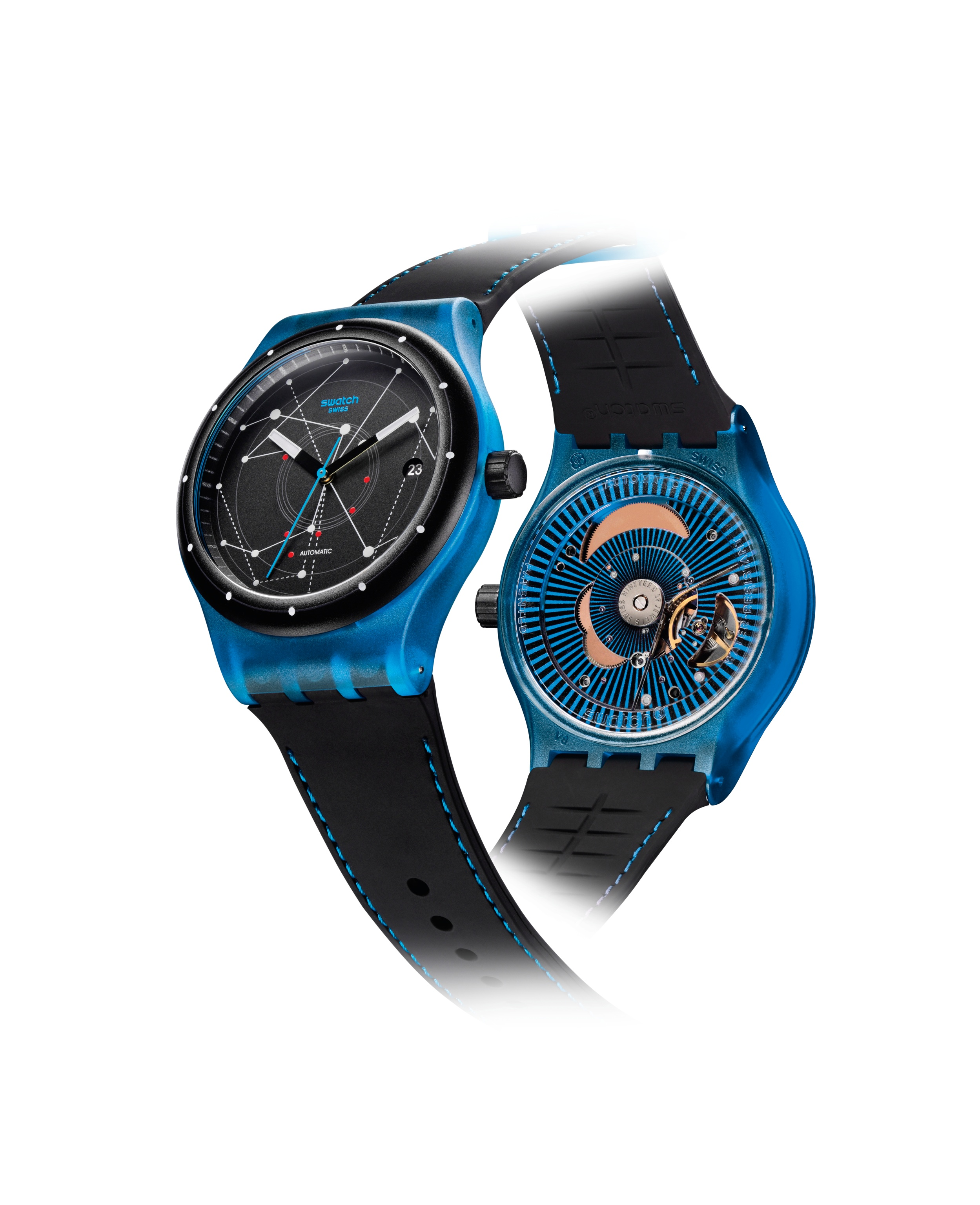 gioielli watches cronograph switch watch swatch chronographs nitespeed en paradiso